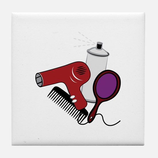Hair Tools Tile Coaster