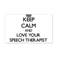 Keep Calm and Love your Speech Therapist Wall Deca