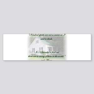 Kindred Spirits Bumper Sticker