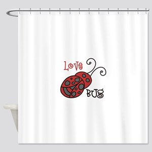 Love Bug Shower Curtain