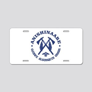 Anishinaabe Aluminum License Plate
