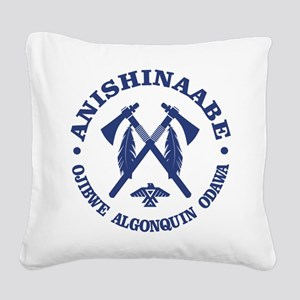 Anishinaabe Square Canvas Pillow