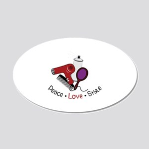 Peace Love Style Wall Decal