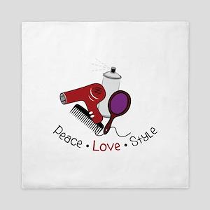 Peace Love Style Queen Duvet