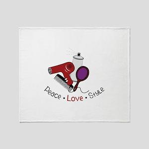 Peace Love Style Throw Blanket