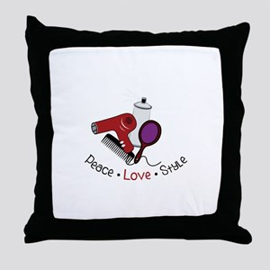 Peace Love Style Throw Pillow