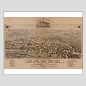 Map of Barre, Vermont, 1884 Small Poster