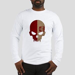Poland Flag Skull Long Sleeve T-Shirt