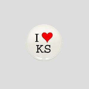 I Love KS Mini Button