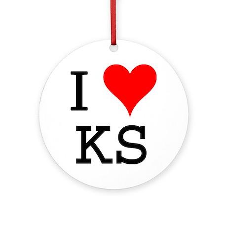 I Love KS Ornament (Round)
