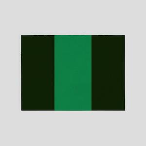 Dark Green Lines 5'x7'Area Rug