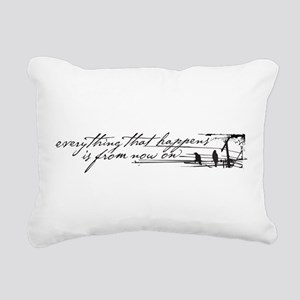 Everything That Happens Rectangular Canvas Pillow