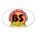 """Real Sports Cars..."" Oval Sticker"