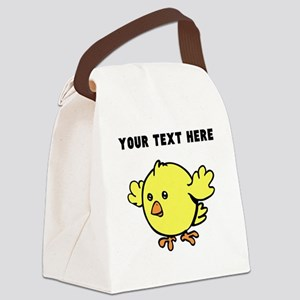 Custom Yellow Chick Canvas Lunch Bag