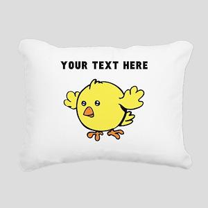 Custom Yellow Chick Rectangular Canvas Pillow