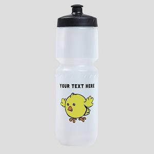 Custom Yellow Chick Sports Bottle