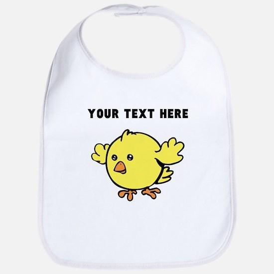 Custom Yellow Chick Bib