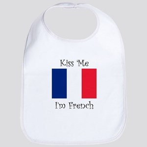 Kiss Me Im French Bib