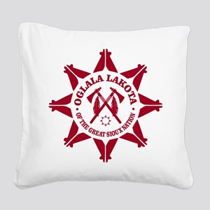 Oglala Lakota Square Canvas Pillow