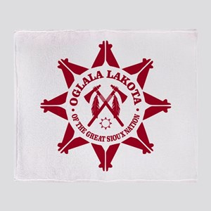 Oglala Lakota Throw Blanket