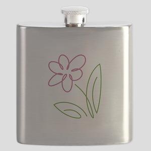 Pink Flower Flask