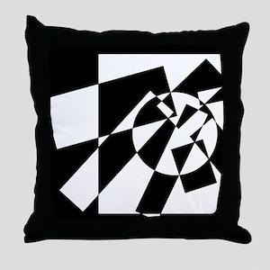 Squares And Circle #7 Throw Pillow