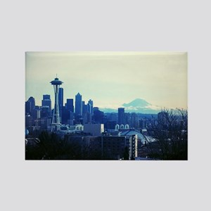 Seattle 2 Rectangle Magnet