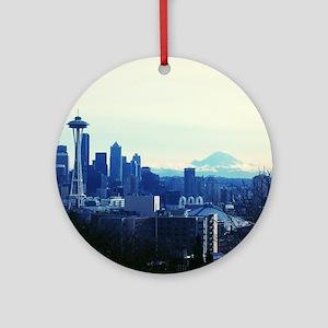 Seattle 2 Round Ornament