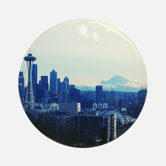 Seattle 2 Round Ornament