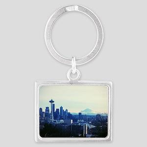 Seattle 2 Landscape Keychain