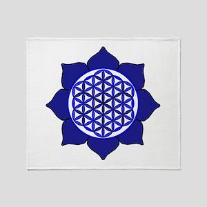 Lotus Blue6 Throw Blanket