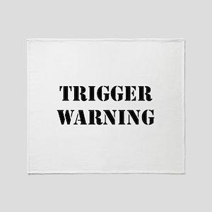 Trigger Warning Throw Blanket