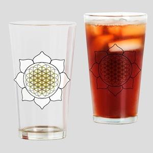 Lotus White Drinking Glass