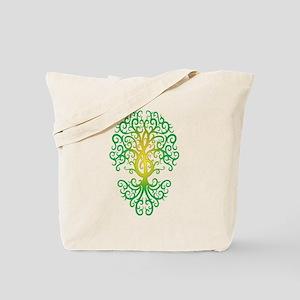 Green Treble Clef Tree of Life Tote Bag