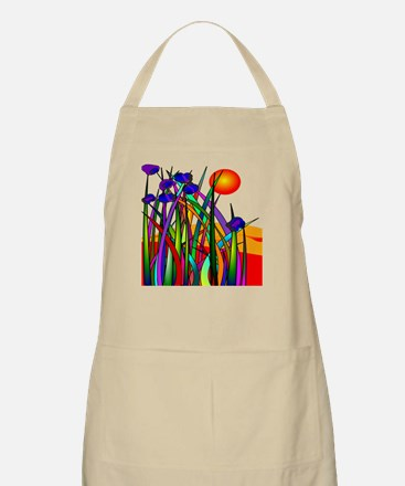Whimsical Plants Sunset Apron