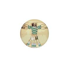 vitruvian celt Mini Button