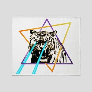 Laser Tiger Throw Blanket
