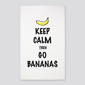 Keep Calm then Go Bananas 3'x5' Area Rug