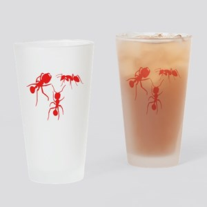 Red Ants Drinking Glass