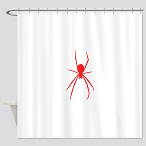 Red Black Widow Spider Shower Curtain