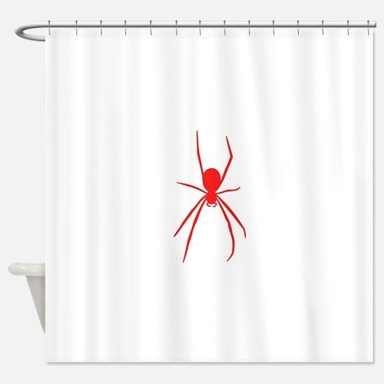 Red Black Widow Spider Shower Curtain