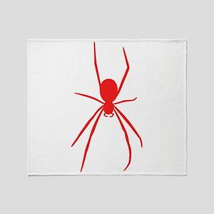 Red Black Widow Spider Throw Blanket