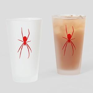 Red Black Widow Spider Drinking Glass