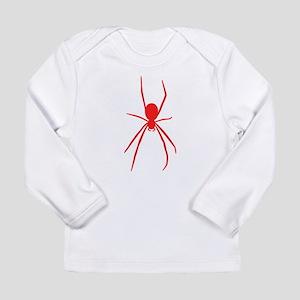 Red Black Widow Spider Long Sleeve T-Shirt