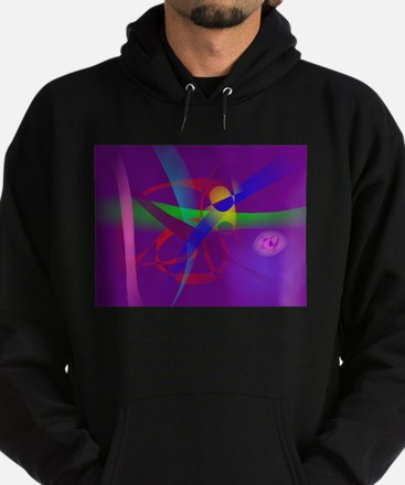Purple Abstract Lines and Forms Hoodie