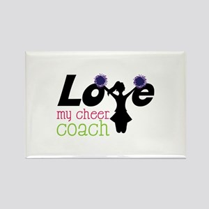 Love my cheer coach Magnets