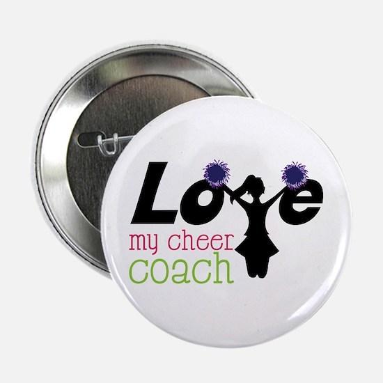 """Love my cheer coach 2.25"""" Button"""