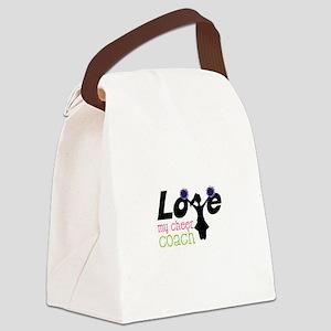 Love my cheer coach Canvas Lunch Bag