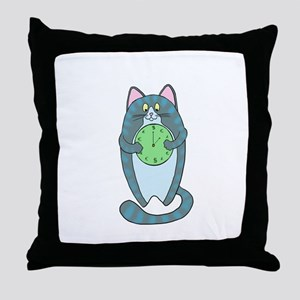 Time Is Money Cat Throw Pillow