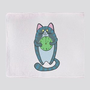 Time Is Money Cat Throw Blanket